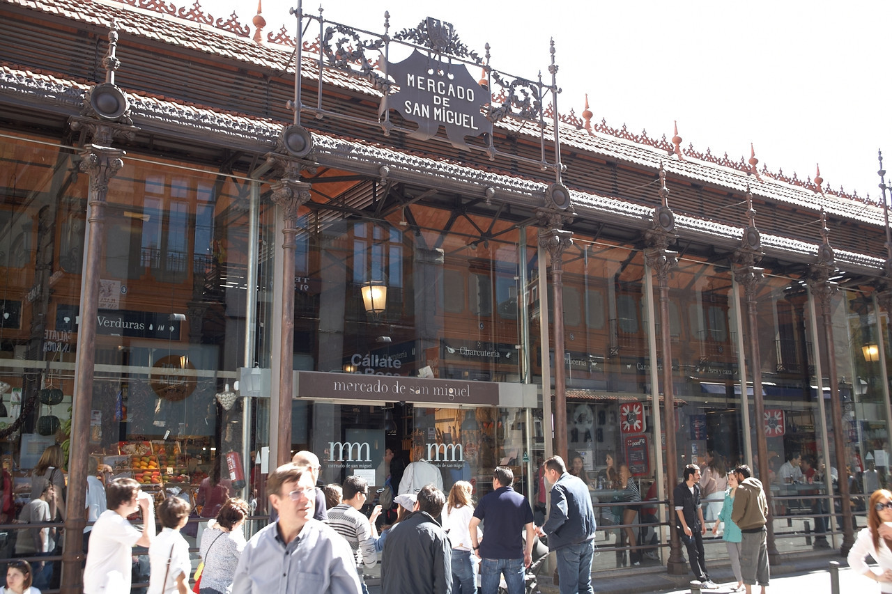 This is Mercado De San Miguel from the outside.