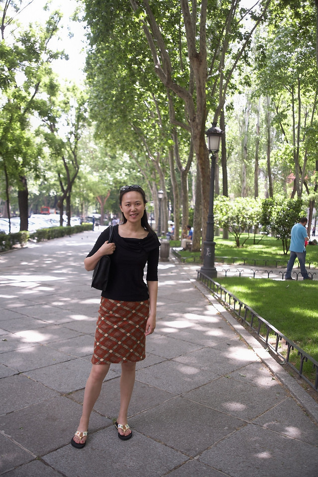 Paseo del Prado (the street) has a very wide median that makes it like a small park.