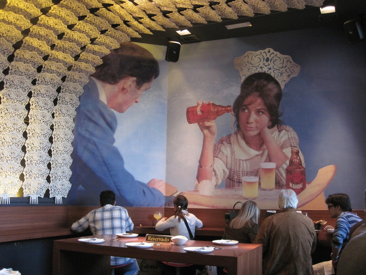 This mural was also a major piece of the decor.