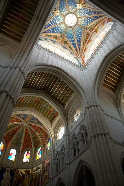 A view of part of the ceiling of Catedral de Nuestra Senora de la Almundena.