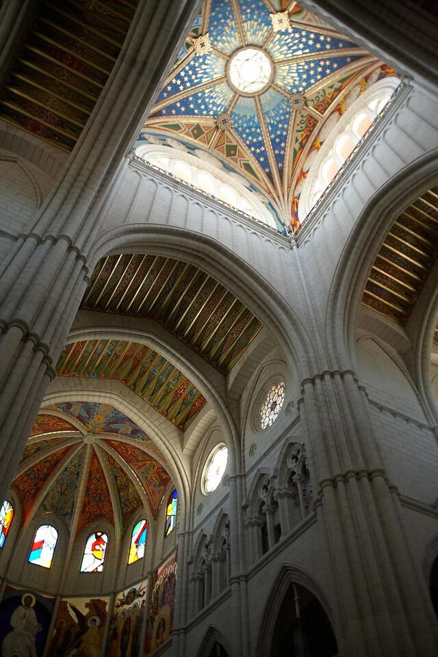 A view of part of the ceiling of Catedral de Nuestra Senora de la Almundena.
