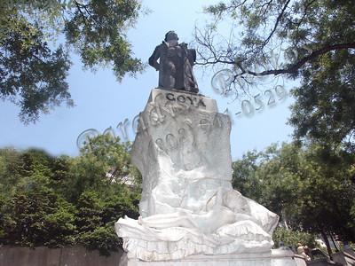 Madrid Goya Statue