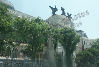 Horses on Madrid Govt building
