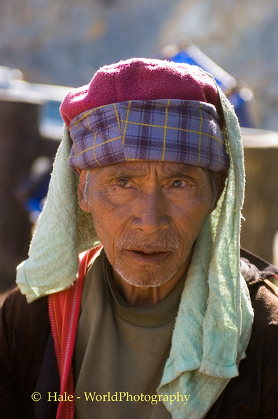 Black Lahu Man At Roadside Rest Stop On Road to Pai, Thailand
