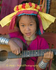Young Padaung Girl Entertaining Vistors to the Refugee Camp on Thai-Myanmar Border