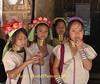 Padaung School Girls In Their Refugee Camp Class Room, Maehongson, Thailand