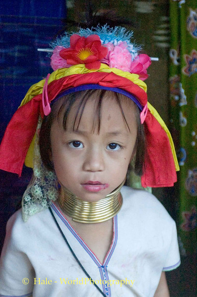 Young Padaung Girl Just Starting Out With Neck Coils