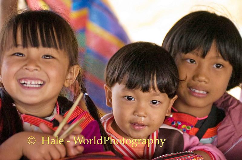 Lisu Children Manning the Handicraft Booth On Road to Pai