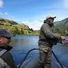 Paul Vais and Ken Shimizu catching fish on dry flies within two hours of getting to the lodge.