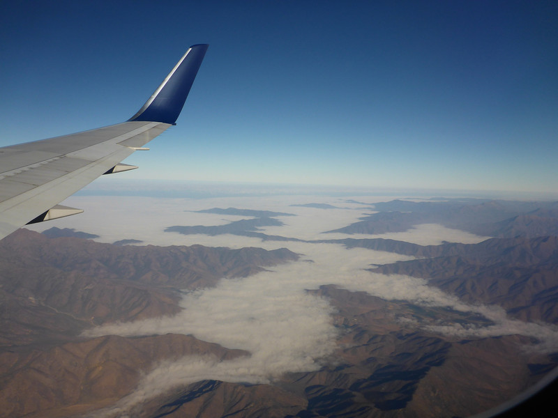 Flying from Santiago to Balmaceda