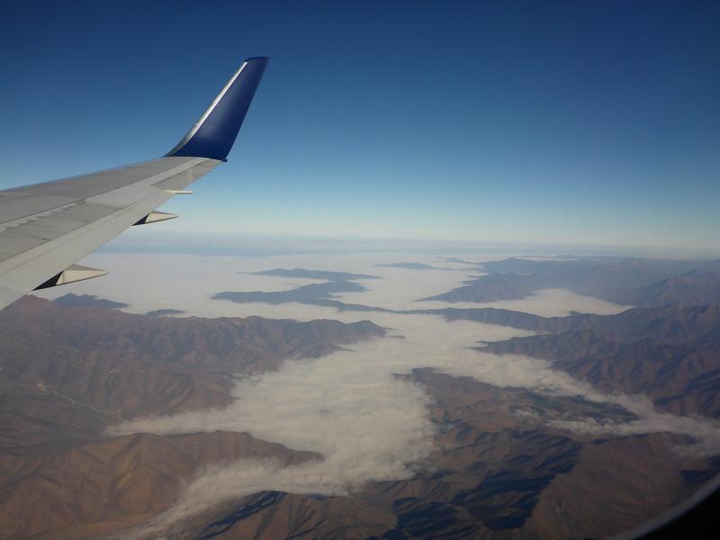 Flying from Santiago to Balmaceda