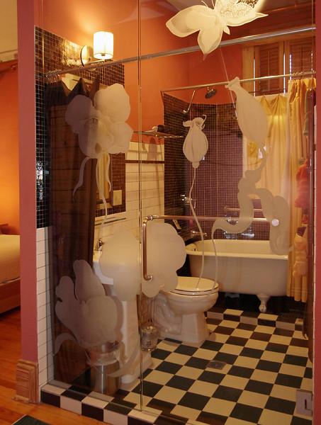 Hotel Frederick, room #1, bath. Boonville, Missouri.