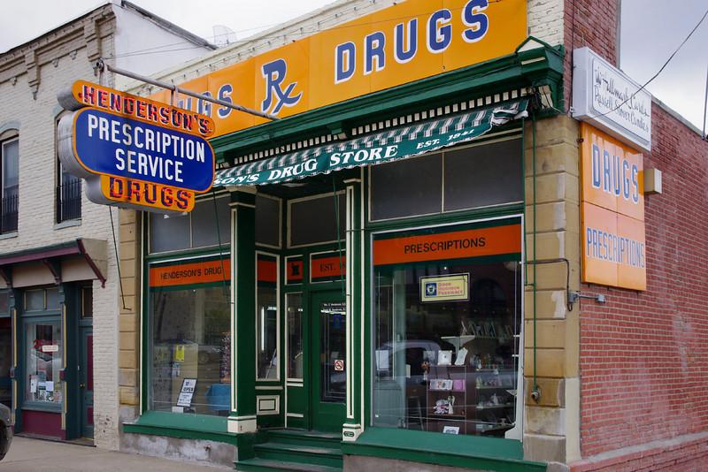 Henderson's drug store, Glasgow, Missouri.