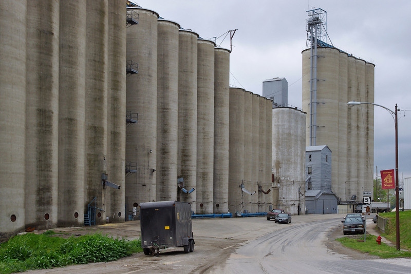 Grain silos, Glasgow, Missouri.