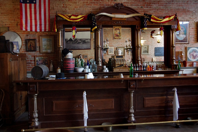 Bar, Bucksnort Saloon, Blackwater, Missouri.