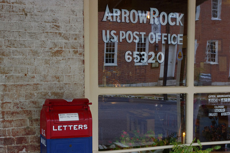 Post Office detail, Arrow Rock, Missouri.