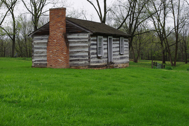 Log cabin, Arrow Rock, Missouri.