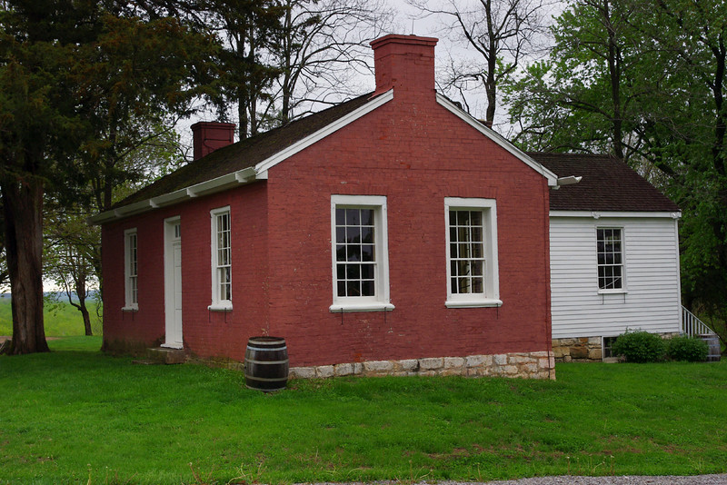 Artist George Caleb Bingham built his Federal-style brick house in Arrow Rock, Missouri, on the lot he purchased in 1837 from future governor Claiborne Fox Jackson.