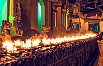 Fiery Shwedagon Paya