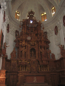 Inside St. Catherine's in Goa.