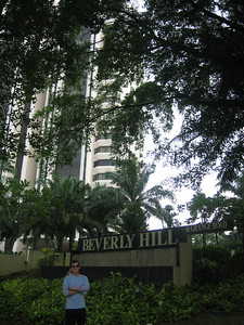 Scott in front of the old Kolb family pad at Beverly Hill in Singapore