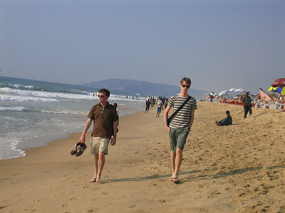 Walking the beach in Agra.