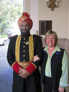 Mom with the doorman at the Imperial.