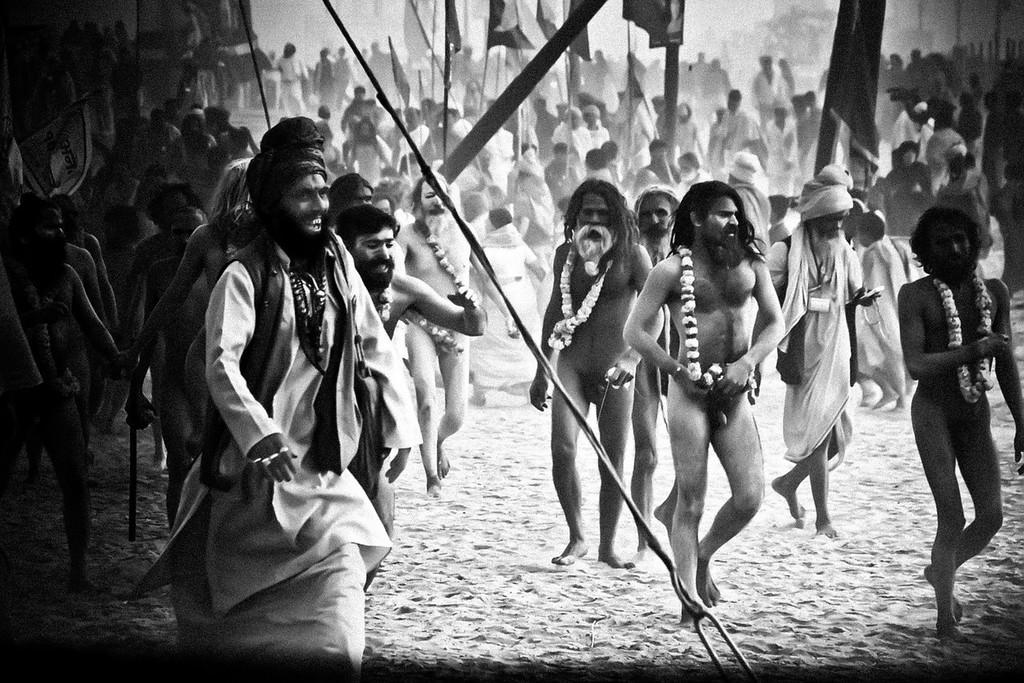 Naga Procession Maha Kumbh Mela 2013 Allahabad India