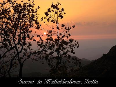 Sunset in Mahableshwar, Maharashtra, India.