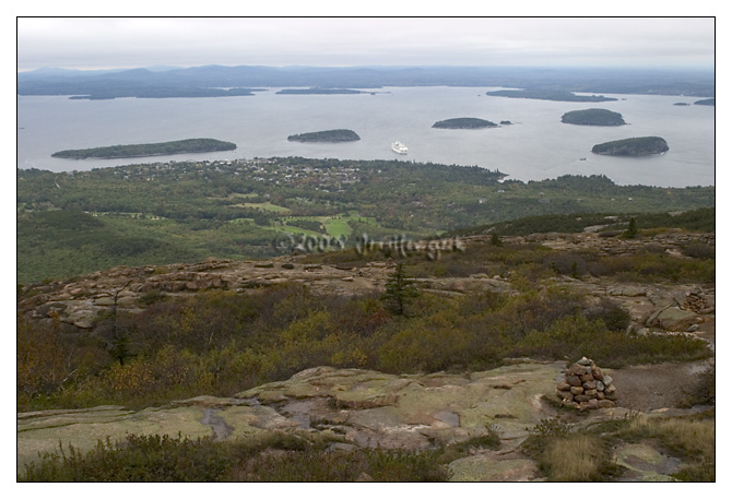 View of Bar Harbor, ME from Cadillac Mountain<br /> Mount Desert Island, Maine