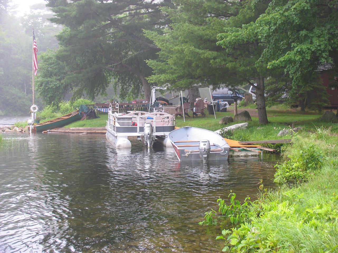 Gary Betz' camp at Grand Lake Stream - July 2006