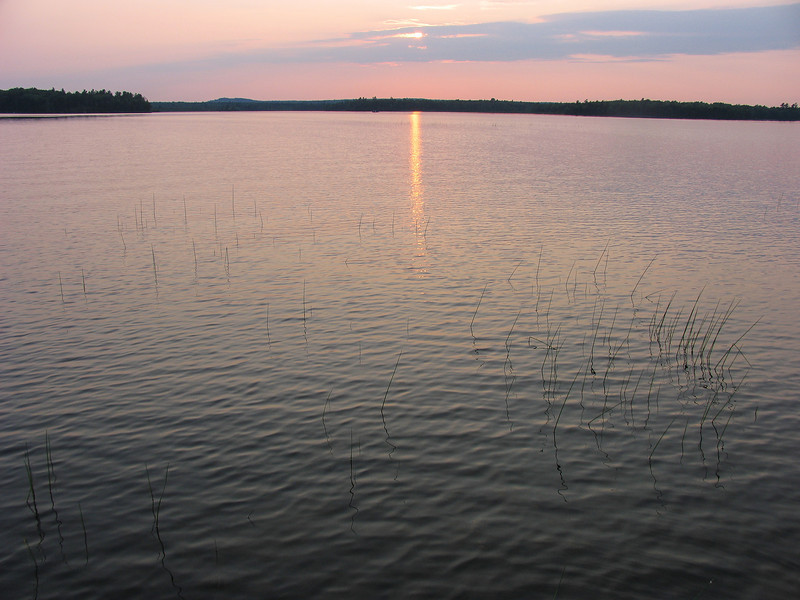 Sun setting on Grand Lake Stream - July 2006