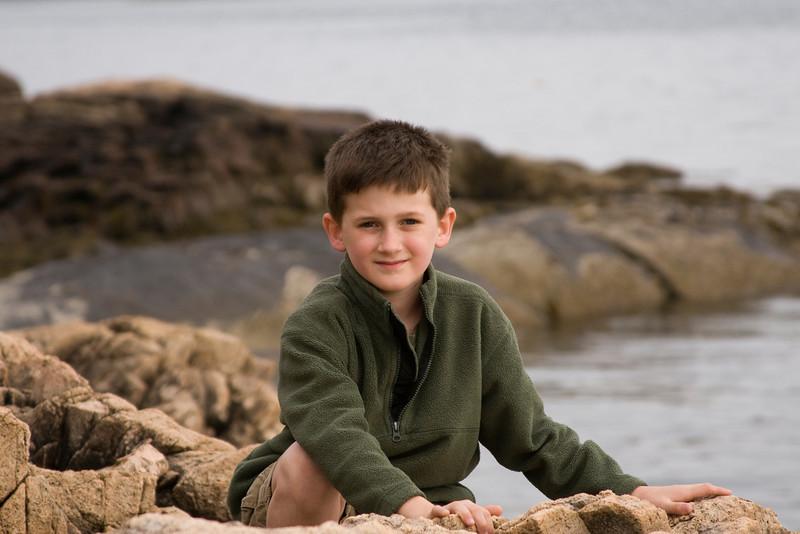 Sam Mueller on the Maine Coast