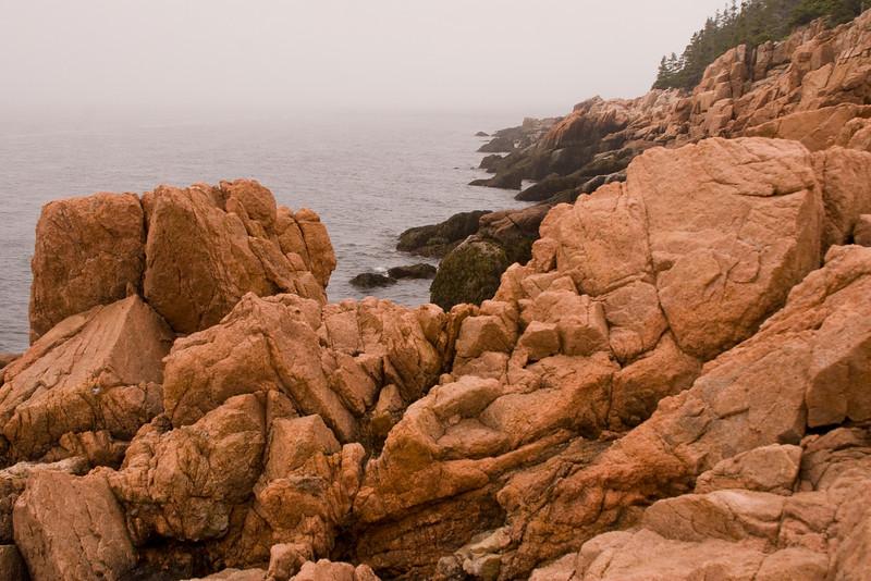 Rocky coastline near Bass Harbor