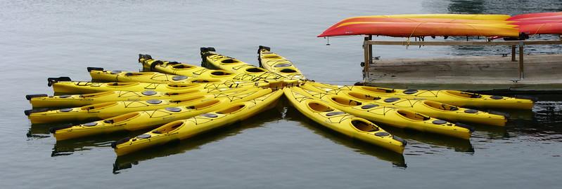 Sea Kayaks near Bar Harbor, ME.