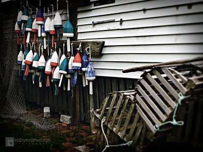 Buoys at Boothbay Harbor, Maine