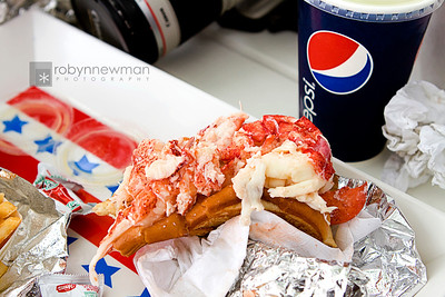 I had already taken a bite....sorry, just couldn't wait.  This Lobster Roll was fabulous.  You can get it with either mayo or melted butter.