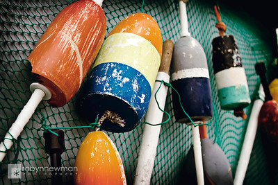 Buoys in Wiscasset, Maine
