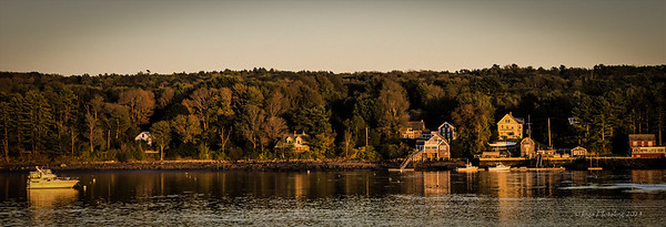 Fort Edgecomb shore line at sunset.  9/13