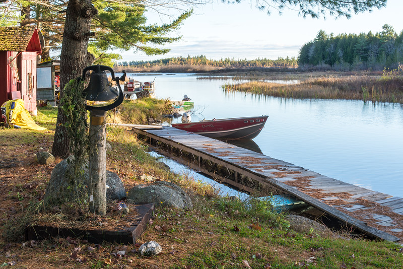 View of camp's dock, Grand Lake Stream, ME - November 2016