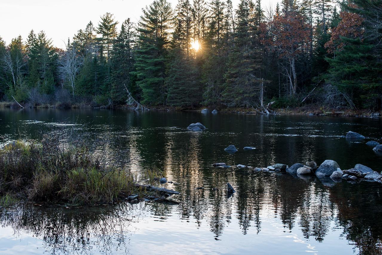 River leading to Big Lake, Grand Lake Stream, ME - November 2016