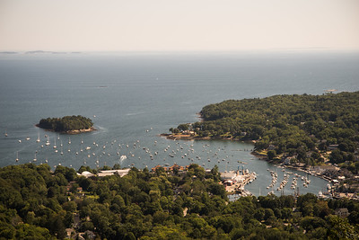 Mount Battie overlooking Camden Harbor