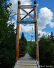 Swinging bridge over the river