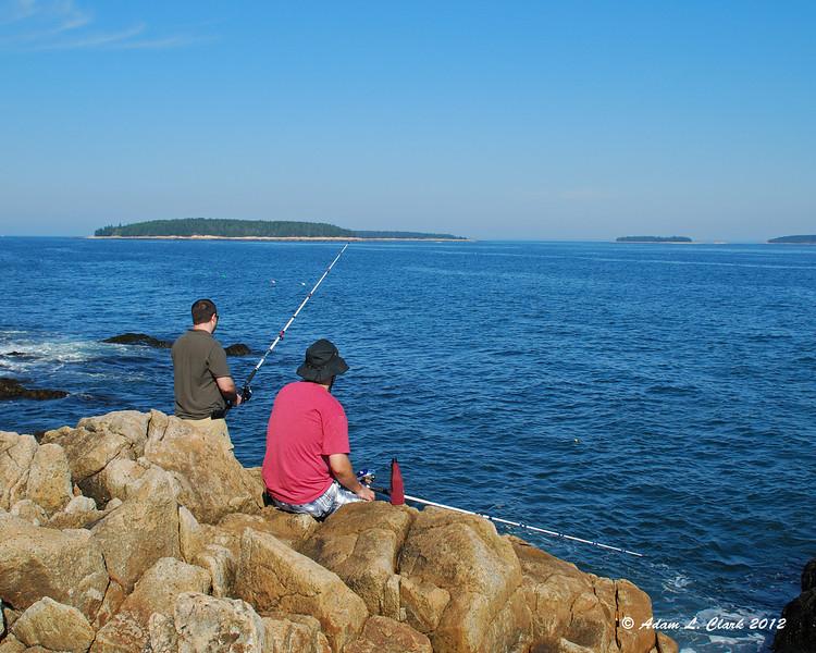 Dana and Tim fishing