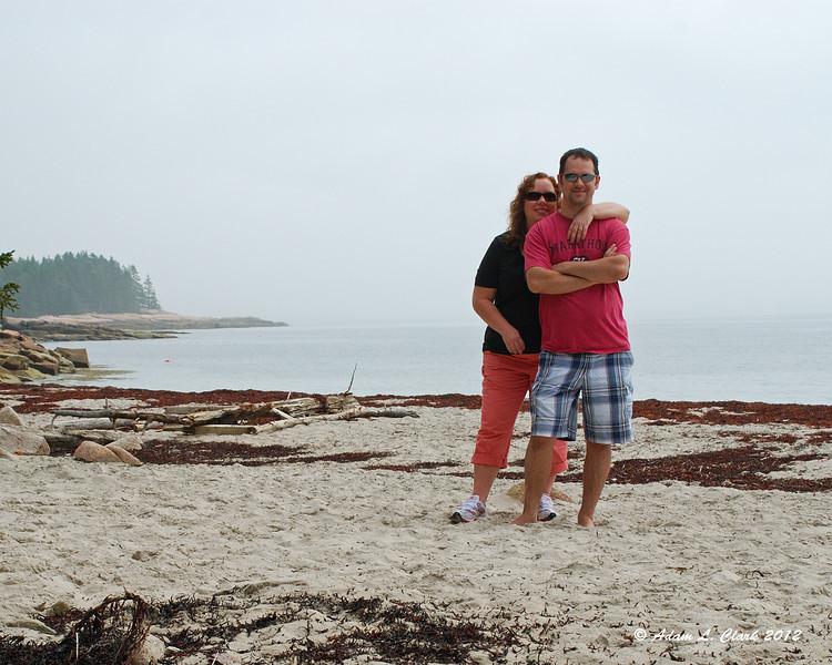 Sandy and Tim on the beach