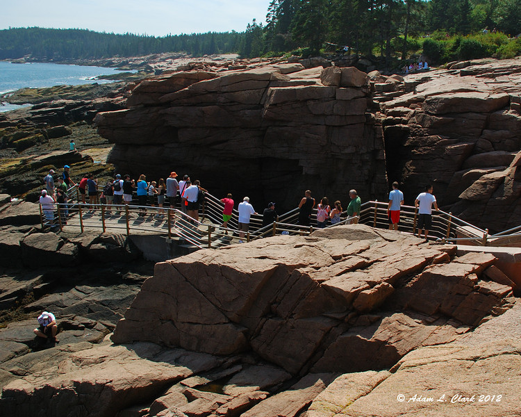 There was a constant line of people checking out Thunder Hole
