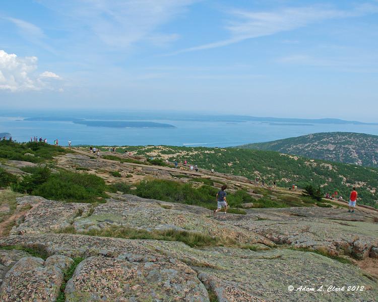 Champlain Mountain and Bar Harbor from Cadillac Mountain