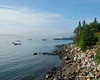 Looking up into Bass Harbor as we wait for the next ferry to the island