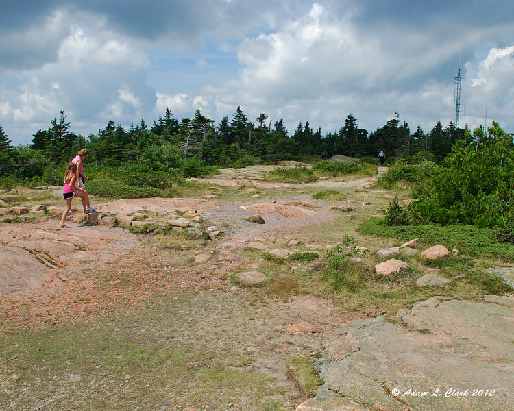 The actual summit of Cadillac Mountain