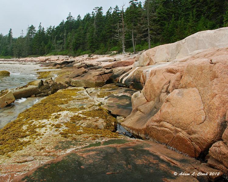 Rocky shoreline near the beach